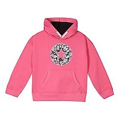 Converse - Girls' pink printed hoodie