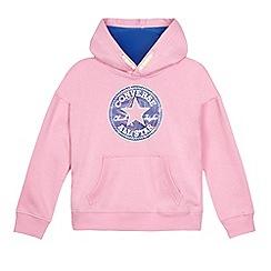 Converse - Girls' lilac logo print hoodie