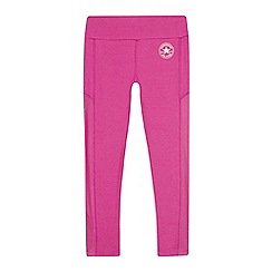 Converse - Girls' pink logo print leggings