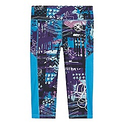 Converse - Girls' purple poster print capri leggings