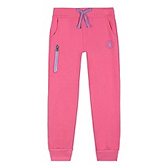 Converse - Girls' pink zip pocket jogging bottoms