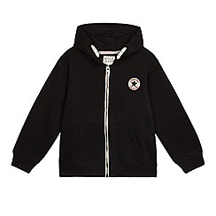 Converse - Boys' 'All Star' black zip through hoodie