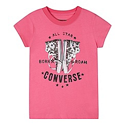 Converse - Girls' pink short sleeve t-shirt