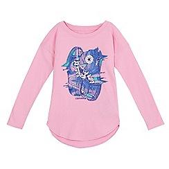 Converse - Girls' pink trainer print t-shirt