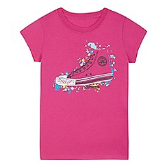 Converse - Girls' pink trainer splash print top