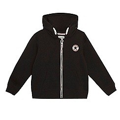 Converse - Boys' black fleece zip hoodie