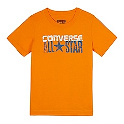 Converse - Boys' orange logo print t-shirt