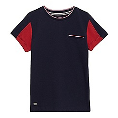 J by Jasper Conran - Boys' navy and red textured t-shirt