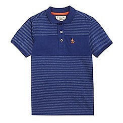 Original Penguin - Boys' blue striped print polo shirt