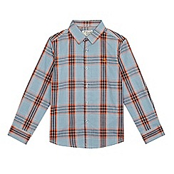 Original Penguin - Boys' blue and orange checked print shirt