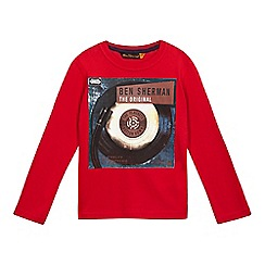 Ben Sherman - Boys' red record print top