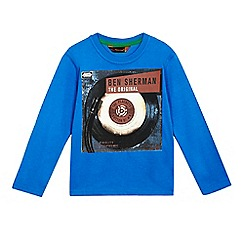 Ben Sherman - Boys' blue record print top