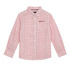 Ben Sherman - Boys' red circle tile print shirt