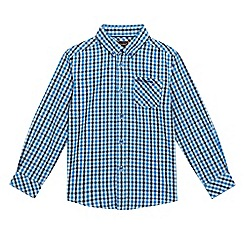 Ben Sherman - Boys' blue checked print shirt