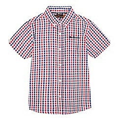 Ben Sherman - Boys' multi-coloured checked print shirt
