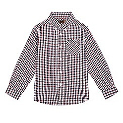 Ben Sherman - Boys' red and navy checked print shirt