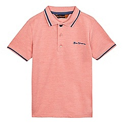 Ben Sherman - Boys' pink tipped trim polo shirt