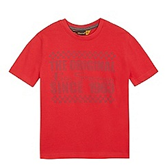 Ben Sherman - Boys' red logo print t-shirt