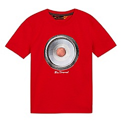 Ben Sherman - Boys' red target speaker print t-shirt