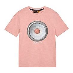 Ben Sherman - Boys' pink target speaker print t-shirt