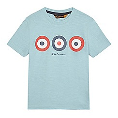 Ben Sherman - Boys' light blue target print t-shirt