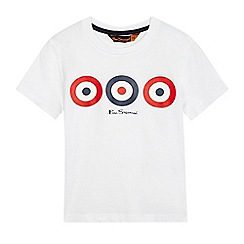 Ben Sherman - Boys' white target print t-shirt