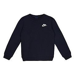 Nike - Boys' navy logo applique jumper
