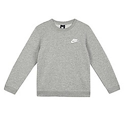 Nike - Boys' grey logo applique jumper