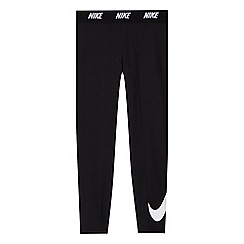Nike - Girls' black dry fabric swoosh design leggings