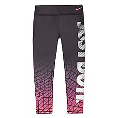 Nike - Girls' black 'Just do it' print sports leggings