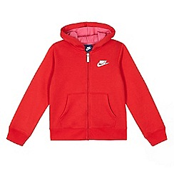 Nike - Boys' red full zip hoodie