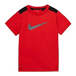 Nike - Boys' red logo print top