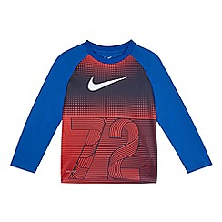 Nike - Boys' red '72' print sports top