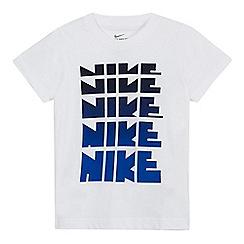 Nike - Boys' white 'Nike' ombre print t-shirt