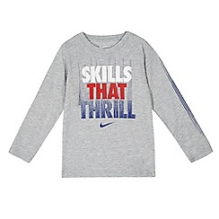 Nike - Boys' grey Nike 'Skills That Thrill' long sleeve top