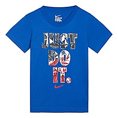 Nike - Boys' blue 'just do it' print t-shirt