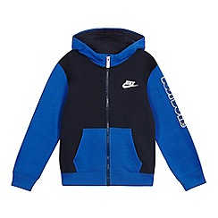 Nike - Boys' navy full zip hoodie