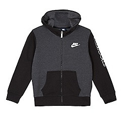 Nike - Boys' grey full zip hoodie