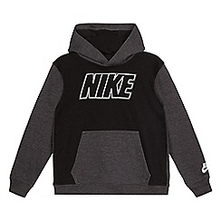Nike - Black and grey logo applique hoody