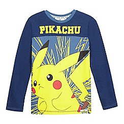 Pokemon - Boys' blue 'Pikachu' long sleeved top