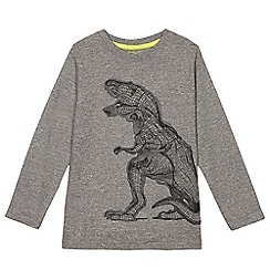 bluezoo - Boys' grey T-rex print t-shirt