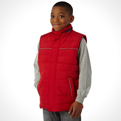 bluezoo - Boy+s red padded gilet