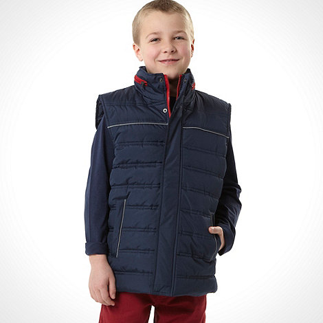 bluezoo - Boy+s navy padded gilet