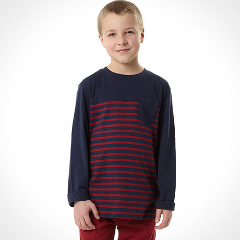 bluezoo - Boy+s navy breton striped top
