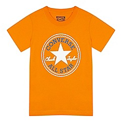 Converse - Boys' orange logo applique t-shirt