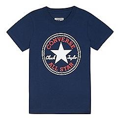 Converse - Boys' navy logo print t-shirt