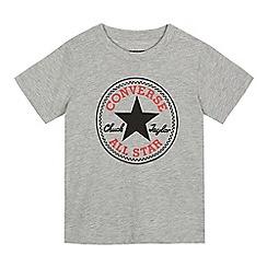 Converse - Boys' grey logo print t-shirt