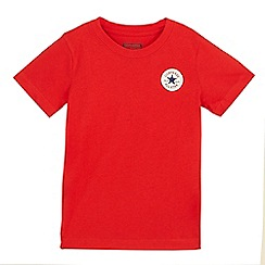 Converse - Boys' red logo applique t-shirtß