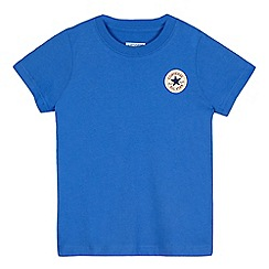 Converse - Boys' blue logo applique t-shirt