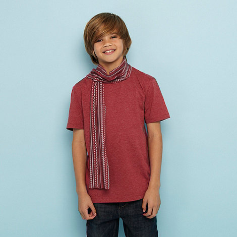 bluezoo - Boy+s red and Aztec printed scarf